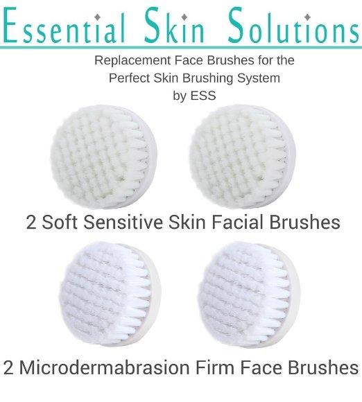 Microdermabrasion face brush